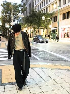 Lui's 神戸店|KOU SUEMATSUさんの「【SCHA/シャー】 ウールベレー帽(SCHA)」を使ったコーディネート