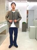 Junji Horiiさんの「BY シルバー ロープ ワイド バングル◆(BEAUTY&YOUTH UNITED ARROWS|ビューティアンドユースユナイテッドアローズ)」を使ったコーディネート