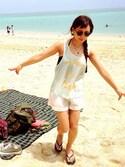 MAIKOさんの「シンプルプラットフォームビーチサンダル(三愛水着|サンアイミズギ)」を使ったコーディネート