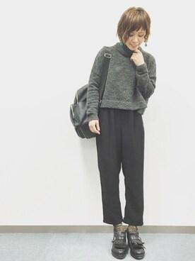 MAIKOさんの「Pタックイージーパンツ 717159(LOWRYS FARM|ローリーズ ファーム)」を使ったコーディネート
