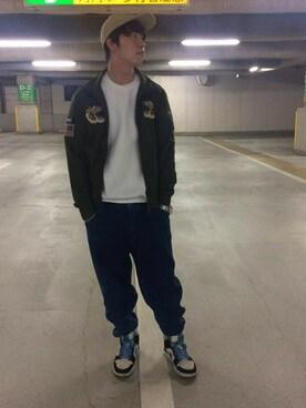 「avirex/アヴィレックス/ SUKA JERSEYS/ スカ ジャージ(AVIREX)」 using this AVIREX  なんば|ARASHI looks