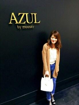 AZULbymoussyイオンモール木曽川店|manami naganoさんの(AZUL by moussy|アズールバイマウジー)を使ったコーディネート