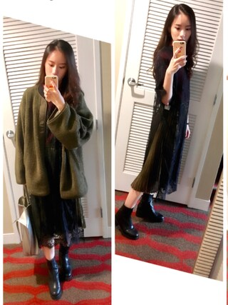 「【CLANE】REVERSIBLE MILITARY BOA JACKET/リバーシブルミリタリーボアジャケット≪先行予約アイテム≫(CLANE)」 using this Jasmine:) looks