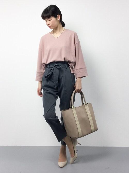 kiyokoさんの「起毛テレコ袖切替フレアプルオーバー(Discoat Parisien WOMENS)」を使ったコーディネート