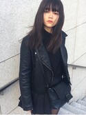 「Topshop 'Ronnie' Faux Leather Biker Jacket(Topshop)」 using this NYLONJAPAN looks
