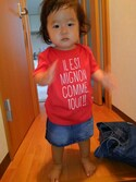 ✡ことママ✡さんの「半袖プリントのカラーTシャツ(COMME CA ISM|コムサイズム)」を使ったコーディネート