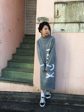 XLARGE/X-girl 立川 Kaori Ikedaさんの「PIPING BERET(X-girl エックスガール)」を使ったコーディネート