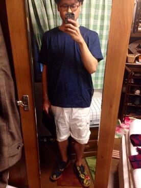 a Takesiさんの「CUT&SAWN バルーンTシャツ MENS(Dulcamara)」を使ったコーディネート