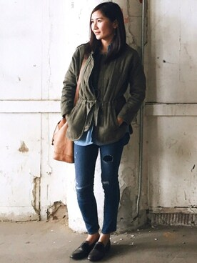 (Madewell) using this Jiang Shuang looks