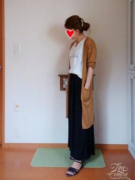 rinnaさんの「メッシュセパレートサンダル(pink adobe)」を使ったコーディネート