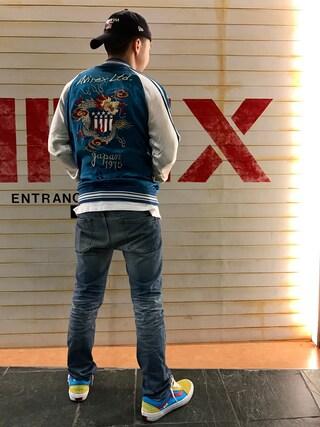 "「avirex/アヴィレックス/ SUKA JACKET ""TIGER&DRAGON""/ スカジャケット ""タイガー&ドラゴン""(AVIREX)」 using this AVIREX  福岡|NΔRUKIX looks"