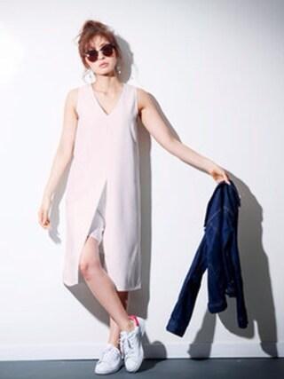 FayMay|Momocoさんの「Vネックロンパースドレス(FayMay|フェイメイ)」を使ったコーディネート