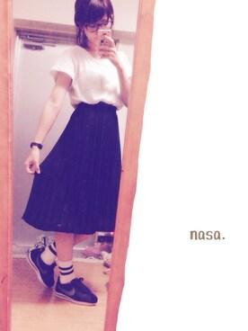nasa.さんの「【niko and...】JINS×niko and...ボストン(niko and...)」を使ったコーディネート