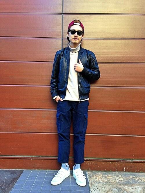 出典:http//i7.wimg.jp. メンズのおしゃれなキャップのファッション