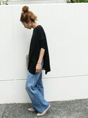 haruさんの「≪予約≫charm wool ニュアンスプルオーバー◆(FRAMeWORK|フレームワーク)」を使ったコーディネート