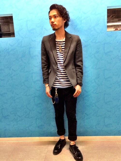 出井 直助 OCEAN TOKYOさんのネックレス「goro's シルバーアクセサリー」を使ったコーディネート