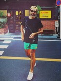 「Acne Studios Perry Short-Length Swim Shorts(Acne Studios)」 using this YosaKugino looks
