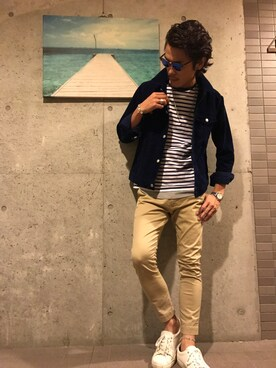 「Ray-ban *sand havana clubmaster sunglasses(Ray-Ban)」 using this tomo looks