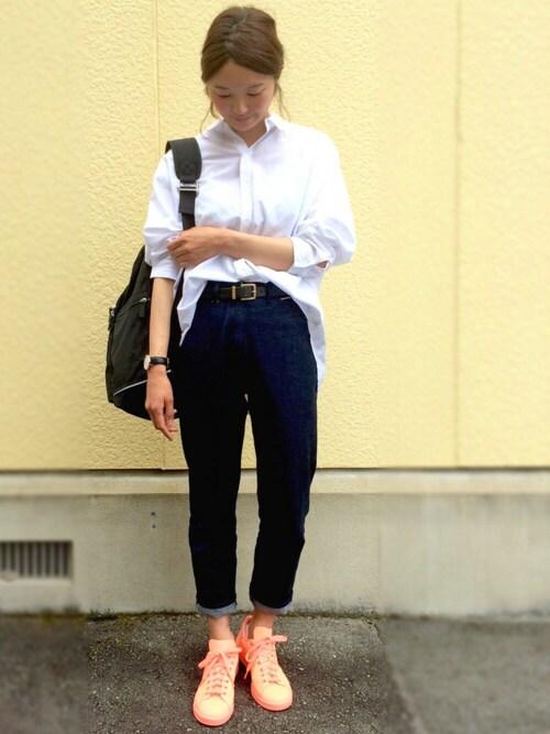 たろ☺︎さんの「【adicolor】オリジナルス スタンスミス [STAN SMITH TONAL REF](adidas)」を使ったコーディネート