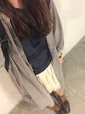 みきてぃさんの「コーデュロイボリューム袖シャツワンピース(w closet|ダブルクローゼット)」を使ったコーディネート
