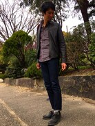 「GRIM TIM/ Dry Selvage(Nudie Jeans)」 using this マサトラマン looks