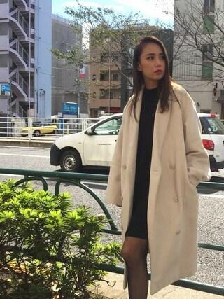 EMODA渋谷109店 武村 沙愛さんの「モッサマキシ コート(EMODA エモダ)」を使ったコーディネート