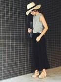 「Christian Louboutin 'Cataclou' Espadrille Platform Sandal(Christian Louboutin)」 using this あきぱんだ looks