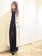 snidel|yuho nakataniさんの「ロングダッフルコート(snidel|スナイデル)」を使ったコーディネート