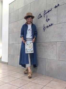 AS KNOW AS DE BASE札幌ステラプレイス maki♡さんの(ASZAKKA アザッカ)を使ったコーディネート