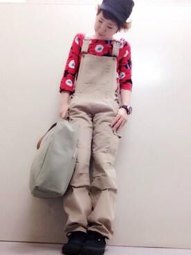 KikOさんの「Unikko Jersey / SUOPEA(marimekko|ジェリーガール)」を使ったコーディネート