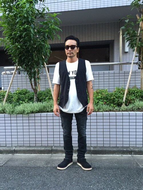 sableclutchさんの「NYC TEE(SABLE CLUTCH)」を使ったコーディネート
