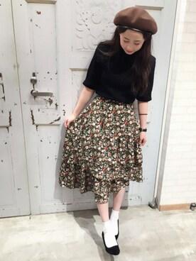 WEGO 仙台パルコ店 ともちんさんの「DISPARK/アシメティアードスカート(WEGO)」を使ったコーディネート
