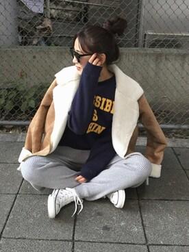 WEGO 仙台パルコ店|ともちんさんの「DISPARK/フェイクムートンライダースジャケット(WEGO)」を使ったコーディネート