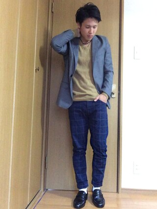 Akiさんの「RETRO POLYESTER TROPICAL CLOTH / ROLLING DOWN 3B NOTCHED LAPEL JACKET(MR.OLIVE|ミスターオリーブ)」を使ったコーディネート