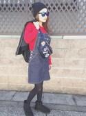 Miii♡さんの「MA-1ウェストバック(ThreeFourTime|スリーフォータイム)」を使ったコーディネート