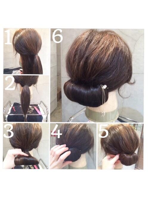 和装髪型の画像 セミロング 20代・30代