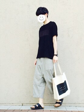 kitsuneさんの「E/R PLAIN STITCH DOLMAN S/S BIG-T(SHAREEF)」を使ったコーディネート