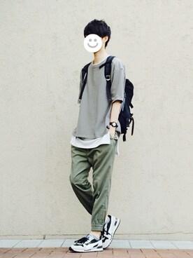 kitsuneさんの「narifuri Back pack S(narifuri|ナリフリ)」を使ったコーディネート
