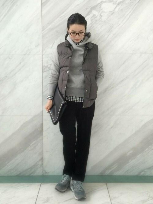 DRESSTERIORプレス Kobayashiさんの「VENTILEウェザーダウンベスト(DRESSTERIOR)」を使ったコーディネート