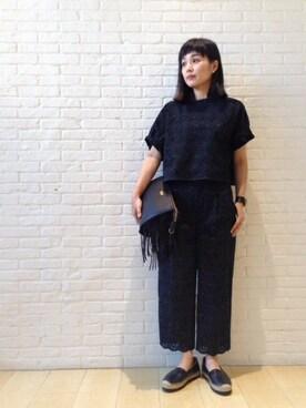 DRESSTERIOR本社|DRESSTERIORプレス Kobayashiさんの「ペイズリー刺しゅう パンツ(DRESSTERIOR)」を使ったコーディネート