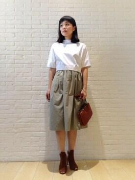 DRESSTERIOR本社 DRESSTERIORプレス Kobayashiさんの「メモリーグログラン ギャザースカート(DRESSTERIOR)」を使ったコーディネート