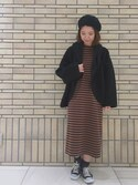 杉本  奈々子さんの「FLUFFY CAPE(MILKFED.|ミルクフェド)」を使ったコーディネート