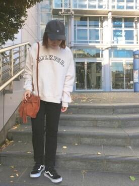 MILKFED. AT HEAVEN27 名古屋|杉本  奈々子さんの「SUEDE BUCKET BAG(MILKFED.|ミルクフェド)」を使ったコーディネート