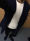 waakzさんの「ウインターリネンミックスチェックボタンダウンシャツ2(coen|コーエン)」を使ったコーディネート