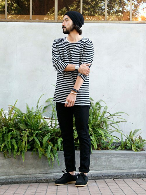 vendor nakameguro | TSUYOSHIさんのTシャツ・カットソー「vendor vendor Things - BOAT NECK BORDER QS TEE」を使ったコーディネート