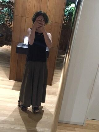 「(GU)イージードレープガウチョパンツA(GU)」 using this チーズ🐭大好き looks