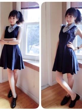 「レイヤードシャツ付ワンピース(snidel)」 using this Iris Wang looks