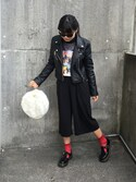 「Urban Renewal PeleCheCoco Leather Biker Jacket(Urban Outfitters)」 using this Selena looks