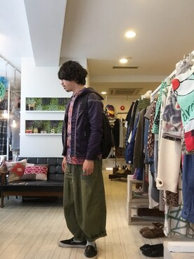 松尾 雅史さんの(Needles Sportswear ニードルス スポーツウェア)を使ったコーディネート