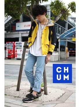 chum-kento│THE NORTH FACEのマウンテンパーカーコーディネート